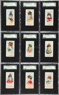 "Non-Sport Cards:Sets, 1889 N73 Duke ""Fancy Dress Ball Costumes"" Near Set (39/50). ..."