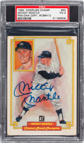 """Baseball Cards:Singles (1970-Now), Signed 1984 Donruss """"Champions"""" Mickey Mantle PSA VG 3. ..."""