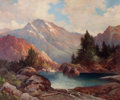 Paintings, ROBERT WILLIAM WOOD (American, 1889-1979). Among the Rockies, 1942. Oil on canvas. 25 x 30 inches (63.5 x 76.2 cm). Sign...