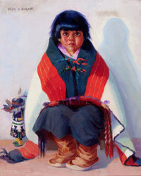 HENRY C. BALINK (American, 1882-1963) Hopi Child Oil on canvas 20 x 16 inches (50.8 x 40.6 cm)