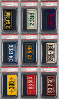 Non-Sport Cards:Sets, 1937-1938 R19-2 & R19-3 Goudey License Plates PSA-GradedCollection (20). ...