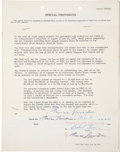Autographs:Others, 1955 Tommy Lasorda Signed Puerto Rican Winter League Contract....