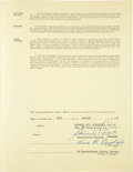 Autographs:Others, 1967 Luke Appling Signed Kansas City Athletics ManagerialContract....