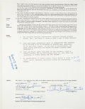 Autographs:Others, 1973 Hank Aaron Signed Atlanta Braves Contract with Life InsuranceRider....