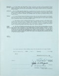Autographs:Others, 1948 Honus Wagner Signed Pittsburgh Pirates Coaching Contract....