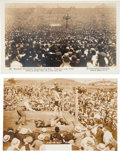 Boxing Cards:General, Vintage Dempsey & Jack Johnson Boxing Post Card Pair (2)....