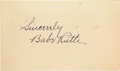 Autographs:Post Cards, 1935 Babe Ruth Signed Government Postcard....