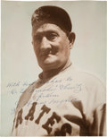 Autographs:Photos, 1933-37 Honus Wagner Signed Photograph....