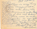 Autographs:Post Cards, 1954 Frank Baker Handwritten Signed Postcard....