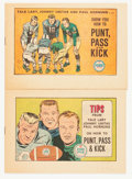 Memorabilia:Comic-Related, Football Tips Promo Comics Group (Ford PP&K, 1962) Condition: Average NM.... (Total: 2 Items)