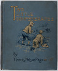 Books:Literature Pre-1900, Thomas Nelson Page. Two Little Confederates. CharlesScribner's Sons, 1888. First edition. Illustrated. Publishe...