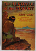Books:Literature 1900-up, Zane Grey. SIGNED. The Heritage of the Desert. Harper &Brothers Publishers, 1910. First edition in a later Gros...
