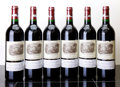 Red Bordeaux, Chateau Lafite Rothschild 2002 . Pauillac. 4lbsl, 2wisl, 2sos. Bottle (6). ... (Total: 6 Btls. )