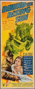 "Movie Posters:War, Behind the Rising Sun (RKO, 1943). Insert (14"" X 36""). War.. ..."