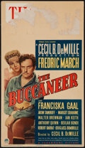 "Movie Posters:Adventure, The Buccaneer (Paramount, 1938). Midget Window Card (8"" X 14"").Adventure.. ..."