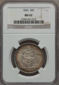 Seated Half Dollars, 1856 50C MS62 NGC....