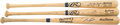 Baseball Collectibles:Bats, Canseco, Jackson and Leyritz Signed Bats Lot of 3....