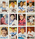Autographs:Sports Cards, 1982-1983 Diamond Classics Series One And Two Signed By 39. ...