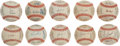 Autographs:Baseballs, 1996 National League Teams Signed Baseballs Lot of 10....