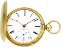 Timepieces:Pocket (pre 1900) , H.H. Ladd Manchester N.H. Early Gold Lever Fusee, circa 1870. ...