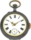Timepieces:Pocket (pre 1900) , Swiss Large Quarter Hour Repeater, circa 1890. ...