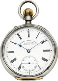 Timepieces:Pocket (pre 1900) , A. Lange & Söhne Deutsche Uhrenfabrikation Silver Pocket Watch, circa 1895. ...