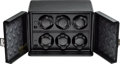 Timepieces:Other , Scatola del Tempo Model 6 RT Leather Six Watch Winder. ...