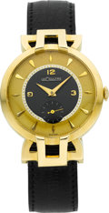 Timepieces:Wristwatch, LeCoultre 18k Gold Art Deco Gent's Wristwatch, circa 1950. ...