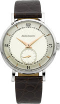 Timepieces:Wristwatch, Jaeger LeCoultre Vintage Stainless Steel Wristwatch, circa 1950's....