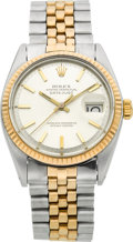 Timepieces:Wristwatch, Rolex Ref. 1601 Steel & Rose Gold Oyster Perpetual Datejust,circa 1968. ...