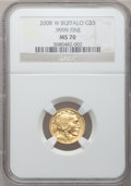 Modern Bullion Coins, 2008-W $5 Gold Eagle MS70 NGC. Ex: .9999 Fine. NGC Census: (0).PCGS Population (327)....