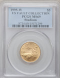Modern Issues, 1995-W G$5 Olympic/Stadium Gold Five Dollar MS69 PCGS. US VaultCollection. PCGS Population (1683/169). NGC Census: (367/50...