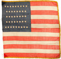 Political:Textile Display (pre-1896), Flags: 42-Star Flag....