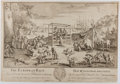 Books:Prints & Leaves, [Engraving]. C. Mosley. The European Race. [London]: Aprilthe 9th, 1739. Approximately 10.5 x 15 inches. Some t...