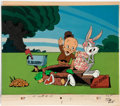 Animation Art:Production Cel, Bugs Bunny and Elmer Fudd Disguise Animation SetupProduction Cels (undated).... (Total: 6 Original Art)