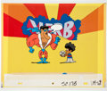 Animation Art:Production Cel, Schoolhouse Rock Verb - That's What's Happening ProductionCels with Color Xerox Background (1974). ...