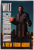 Books:Biography & Memoir, Wilt Chamberlain. SIGNED. A View from Above. Villard, 1991.First edition, first printing. Signed by the autho...