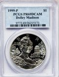 Modern Issues: , 1999-P $1 Dolley Madison Silver Dollar PR69 Deep Cameo PCGS. PCGSPopulation (2578/275). NGC Census: (1994/422). Numismedi...