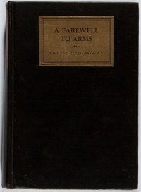 Ernest Hemingway. A Farewell to Arms. Scribners, 1929. First edition, first printing. Light rub
