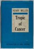 Books:Literature 1900-up, Henry Miller. INSCRIBED. Tropic of Cancer. Grove, 1961.First American edition, first printing. Signed and ins...