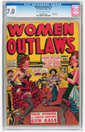 Golden Age (1938-1955):Western, Women Outlaws #1 (Fox Features Syndicate, 1948) CGC FN/VF 7.0 Creamto off-white pages....