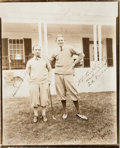 Golf Collectibles:Autographs, 1920's Horton Smith & Bobbie Cruikshank Signed Photograph....