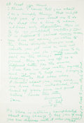 Autographs:Letters, 1953 Ty Cobb Handwritten Letter to Gil Hodges....
