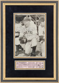 Autographs:Photos, 1951 Honus Wagner Signed Photograph with Opening Day Full Ticket....