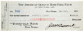 Autographs:Checks, 1924 Herb Pennock Signed New York Yankees Payroll Check....
