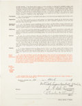 Autographs:Others, 1939 Casey Stengel Signed Boston Bees Contract....
