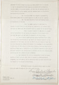 Autographs:Others, 1948 Grover Cleveland Alexander Signed Book Contract....
