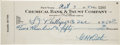Autographs:Checks, 1942 Babe Ruth Signed Check, PSA/DNA NM-MT 8....
