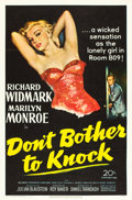 "Movie Posters:Thriller, Don't Bother to Knock (20th Century Fox, 1952). One Sheet (27"" X41"").. ..."