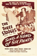 "Movie Posters:Comedy, Sing a Song of Six Pants (Columbia, 1947). One Sheet (27"" X 41"")....."